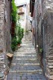 Street in Tivoli. Tivoli is a small town near Rome Stock Image