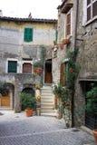 Street in Tivoli. Tivoli is a small town near Rome Stock Images