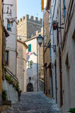 Street to the Castle of Manciano Royalty Free Stock Photo