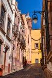 Streets of Zacatecas Mexico. Street to the church of Zacatecas Mexico Royalty Free Stock Photo
