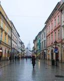 Street to Florianska Gate in Krakow Stock Photo