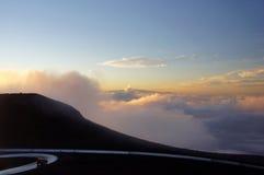 Street to Mauna-Kea-Observatory, Hawaii, USA Stock Image