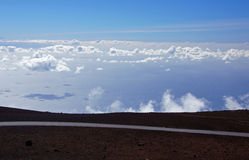 Street to Mauna-Kea-Observatory, Hawaii, USA Stock Photo