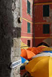 Street to Monterosso in Vernazza Stock Photos