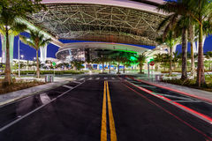 Street to new Marlins Park in Miami Stock Photos