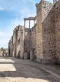 Street to roman amphitheatre Stock Images