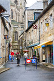Street to Treguier Cathedral Stock Photos