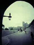 Street to windsor castle,england Stock Images