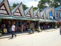 Street at Tomok in Lake Toba Sumatra Royalty Free Stock Photos