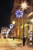 Street in Torun town.  Poland Royalty Free Stock Photos