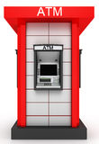 Street  totem with automated teller machine Royalty Free Stock Images