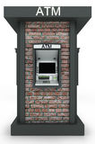 Street  totem with automated teller machine Royalty Free Stock Image