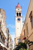 Street in the town of Corfu, Greece, Europe Royalty Free Stock Photo
