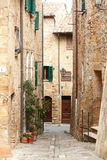 Street in the town of Pienza Royalty Free Stock Images