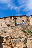 Street in the town of Pienza, Tuscany, Italy Stock Photography