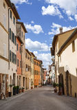 Street in the town of San Quirico d'orcia, Tuscany Royalty Free Stock Photos