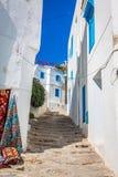 Street in the town of Sidi Bou Said, Tunisia Stock Image