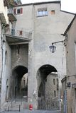 Sisteron Town, France. Street in the town of Sisteron, France Royalty Free Stock Photo