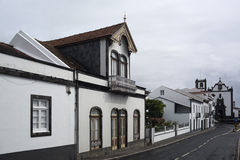 Street in the town of Vila Franca do Campo, São Miguel Island, Stock Image