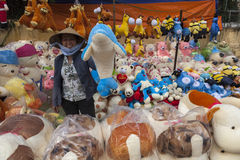 Street toys seller Royalty Free Stock Photos
