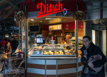 Street trade of bakery products in the Hauptbahnhof railway stat Stock Image