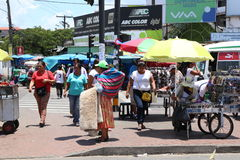 Street traders in Santa Cruz in Bolivia Royalty Free Stock Image