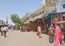 Street trading in the Indian city of Pushkar Royalty Free Stock Photography
