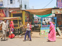 Street trading in the Indian city of Pushkar Royalty Free Stock Photos