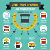 Street trading infographic concept, flat style Royalty Free Stock Photography