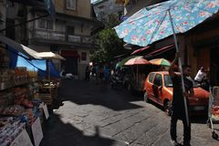 Street trading in the old city royalty free stock images