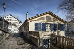 Street and traditional houses in old town zurich switzerland Stock Photography