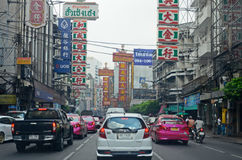 Street traffic in Bangkok Stock Photos