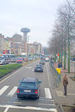 street traffic in Brussels Royalty Free Stock Photo