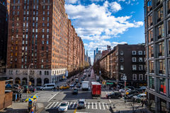 Street traffic and buildings in Chelsea - New York, USA Royalty Free Stock Photo