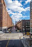 Street traffic and buildings in Chelsea - New York, USA Stock Images