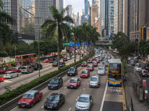 Street Traffic in Hong Kong Royalty Free Stock Photos