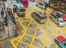 Street Traffic in Hong Kong Stock Image
