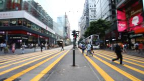 Street traffic in Hong Kong. Full HD stock video