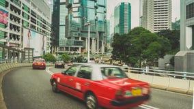 Street Traffic in Hong Kong Timelapse stock video