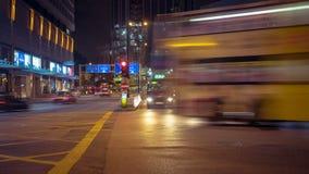 Street Traffic in Hong Kong Timelapse stock video footage