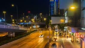 Street Traffic in Hong Kong Timelapse stock footage