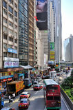 Street and traffic in Hongkong city Stock Photos