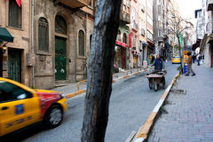 Street traffic in Istanbul Stock Images
