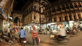Street traffic in Junagadh. Timelapse stock video