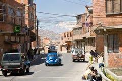 Street traffic, La Paz stock photo