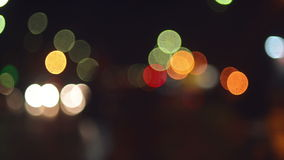 Street Traffic Lights Bokeh stock video footage