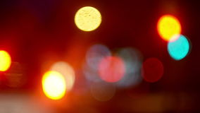Street Traffic Lights Bokeh stock video