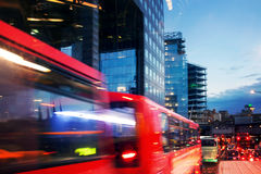 Street traffic by night in London Stock Image