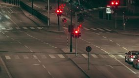 Street traffic at night, Time lapse stock video footage