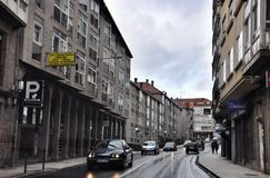 Street and traffic in Santiago de Compostela, Spain Royalty Free Stock Photography